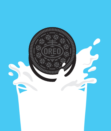 Glass milk Oreo